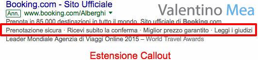 Estensioni Callout Google AdWords