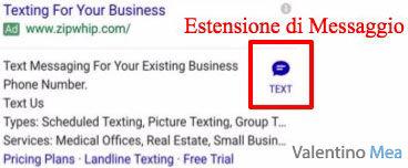 Estensioni di Messaggio Google AdWords