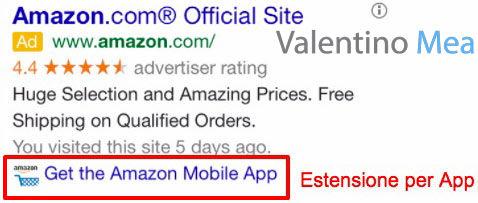 Estensioni per App Google AdWords