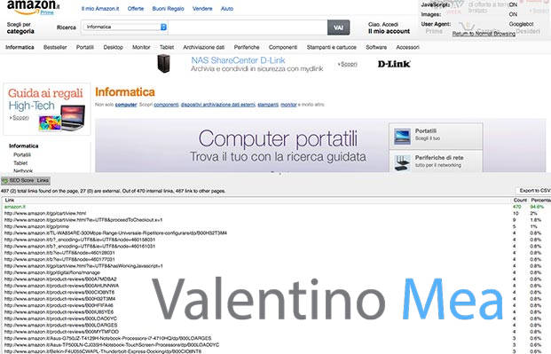 Amazon esempio di cloaking