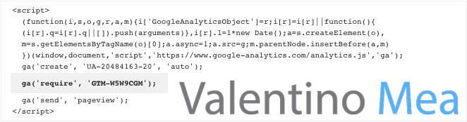 esempio codice Google Analytics con plugin Optimize